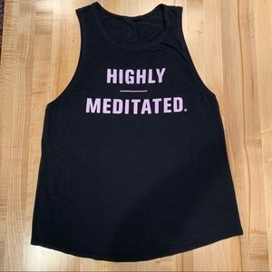 Lululemon Highly Meditated Muscle Tank in size 8